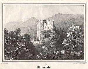 Merkenstein. Lith. Anst. v. L. Oeser i.: Ruine Merkenstein
