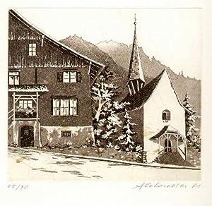 Kapelle mit altem Haus in Planken]: Liechtenstein - Planken