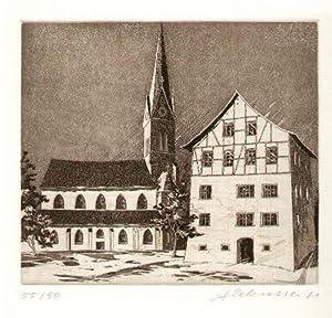 Pfarrkirche und Pfrundhaus in Eschen): Liechtenstein - Eschen