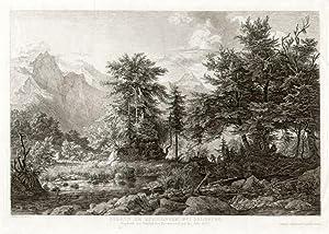 Gegend am Koenigssee bei Salzburg. Angekauft vom Saechsischen Kunstvereine auf das Jahr 1835. ...