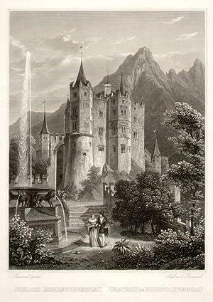 Schloss Hohenschwangau. Chateau de Hohenschwangau.: Füssen