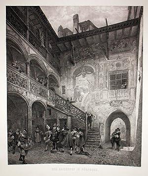 Der Kaiserhof in Nürnberg. Druck v. L.Angerer. Berlin.: Nürnberg -