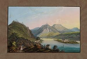Blick von Rolandseck über Nonnenwerth gegen Drachenfels ]: Rolandseck -