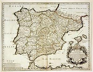 La spagna. ( Giovanni Giacomo De Rossi 1627 - 1691 ): Spanien - Portugal - Balearen - G. G. de ...