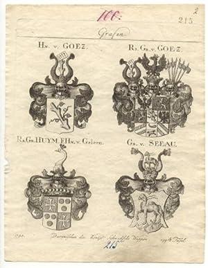 Hn. v. Goez. - Rs. Gr. v.: Grafen - Wappen