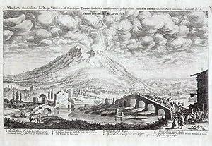Warhaffte Contrafactur des Bergs Vesuvy, und derselbigen Brandt sambt der umbligenden gelegenheit ...