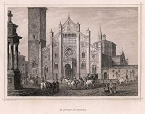 Il Duomo di Monza. Stich u. Druck. d. KunstAnst. d. Oest. Lloyd in Triest.: Monza -