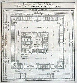 Ichnographia five Vestigium Templi Hierosolymitani.: Tempel