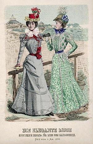 Die elegante Mode. Illustrierte Zeitung für Mode und Handarbeiten. No 9 vom 1. Mai 1898.: ...