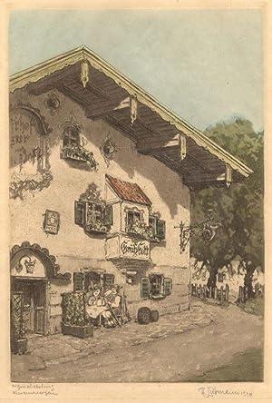 Gasthof zur . Post in Oberammergau].: Oberammergau
