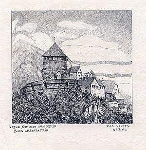 Vaduz, Fürstentum Liechtenstein. Burg Liechtenstein-.: Reichl, Ella Luise (1887 - 1942)