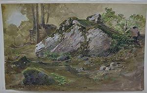 Felsstudie.: Moser, Karl Vinzenz / Umkreis