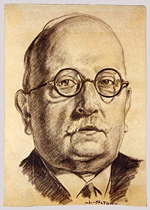 Hofrat August von Tabarelli. (Porträt).: Alton, Luis (*1894 +1972)