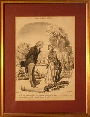 Tout ce qu'on vourdra. (N°. 55): Honoré Daumier (1808 - 1879)