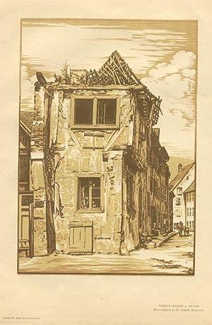 Vieille maison à Thann. Bois original de: Camille Beltrand