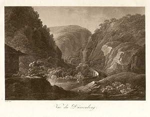 Vue du Dürrenberg.: Dürrnberg - Tennengau