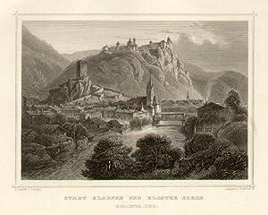 Stadt Klausen und Kloster Seben im Eisackthal. (Tyrol).: Klausen