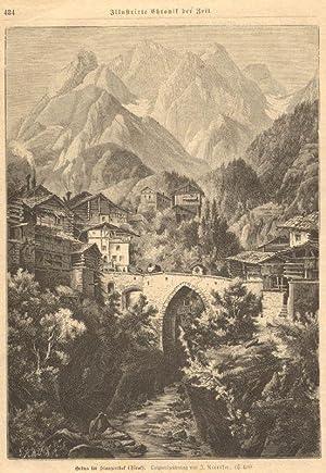 Grins im Stanzerthal (Tirol). Originalzeichnung von J. Nieriter. (S.498): Stanzertal