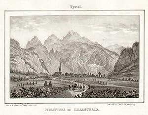 Tyrol. Schlitters im Zillerthale. Gez. n. d. Natur v. G. Pezolt. Lith. v. J. St.: Zillertal