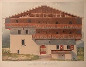 Bauernhaus bei Kitzbühel. Verlag der K.u.K. Priv. Kunstanstalt, S. Czeiger, Wien.: Kitzb�hel