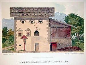 Façade eines Bauernhauses zu Tartsch in Tirol. Verlag der K.u.K. Priv. Kunstanstalt, S. ...