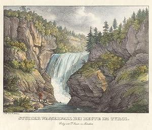 Stuiber Wasserfall bei Reute im Tyrol. Verlag von F. Sauer.: Reutte