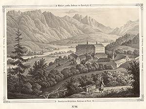 Ansicht des Schlosses Ambras in Tirol.: Innsbruck - Schloss Ambras