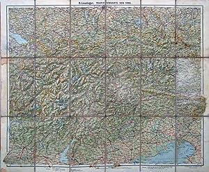 Touristenkarte von Tirol. Geographischer Kartenverlag Bern. Kümerly & Frey.: Tirol