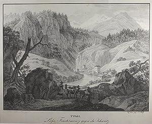 Tyrol. Pass Finstermunz gegen die Schweitz.: Finstermünz -