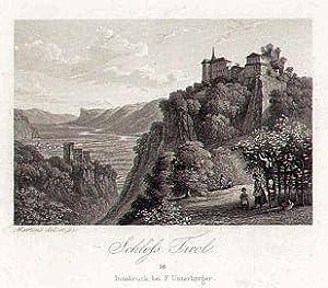 Schloss Tirol. Innsbruck, bei F. Unterberger.: Dorf Tirol -