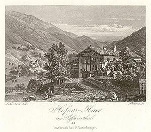 Hofers - Haus im Passeierthal. #34. Innsburck bei F. Unterberger.: St. Leonhard in Passeier