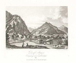 Dorf Strass Eingang in s Zillerthal. # 25 Innsbruck bei F. Unterberger: Strass im Zillertal -