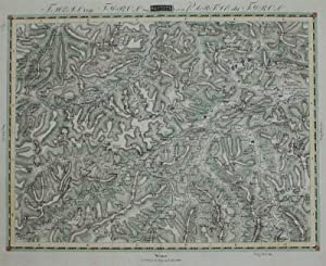 Karte aus 'Jung: Netz der topographisch-militärischen Charte von Teutschland in 204 Bl&...