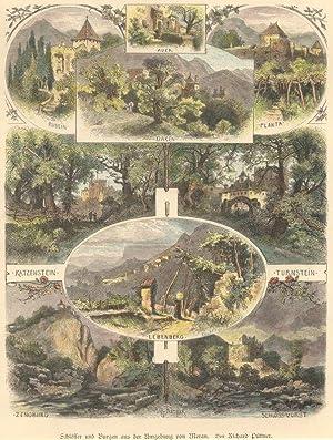 Schlösser und Burgen aus der Umgebung von Meran. Von Richard Püttner.: Burggrafenamt