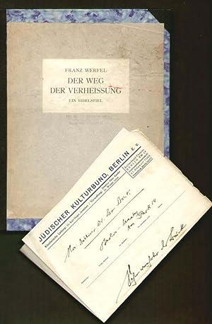 Der Weg der Verheissung. Ein Bibelspiel.: Werfel, Franz