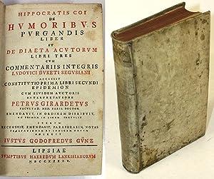 Hippocratis Coi De Humoribus Purgandis Liber Et De Diaeta Acutorum Libri Tres / Cum ...