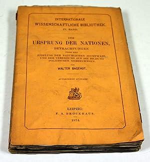 Der Ursprung der Nationen. Betrachtungen über den Einfluss der natürlichen Zuchtwahl und ...