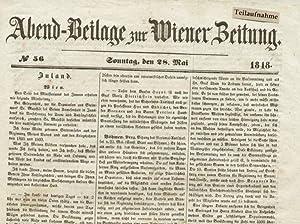 Abend-Beilage zur Wiener Zeitung.: Wiener Zeitung