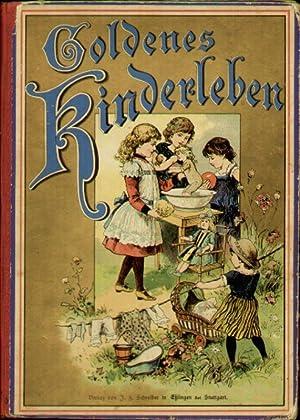 Goldenes Kinderleben. Mit sinnigen Kinderverschen. Ein Bilderbuch mit zwölf feinen ...