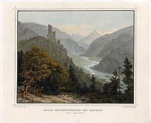 Ruine Schroffenstein bei Landeck (Tyrol Oberinnthal).: Landeck