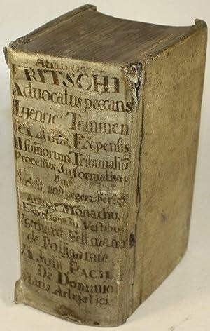 AHASVERI FRITSCHI: Advocatus Peccans, Sive Tractatus De Peccatis Advocatorum Et Procuratorum : ...