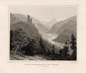 Ruine Schroffenstein bei Landeck. (Tyrol Oberinnthal.): Landeck