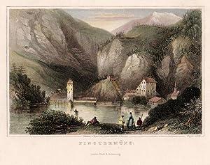 Finstermünz. Johanna v. Isser Geb . Grossrubatscher's Skizzen.: Finstermünz -