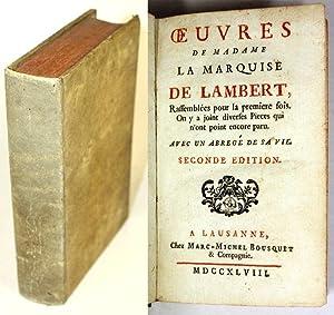 Oeuvres de madame la marquise de Lambert, Rassemblées pour la première fois. On y a ...
