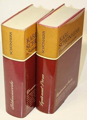 Gesamtausgabe. 1. Bd.: Lyrik und Prosa. 2. Bd.: Bühnenwerke.: Sch�nherr, Karl