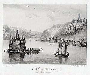Pfalz im Rheine, Caub, und Ruine Gutenfels.: Rheinland -