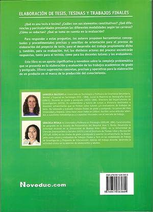 ELABORACION DE TESIS, TESINAS Y TRABAJOS FINALES: GABRIELA IGLESIAS; GRACIELA RESALA (Compiladoras)