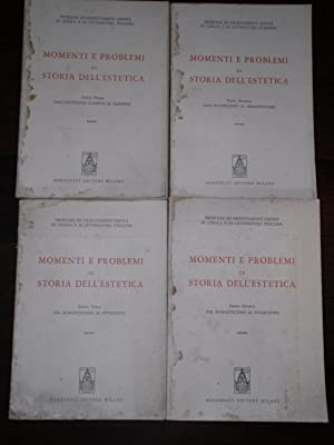 MOMENTI E PROBLEMI DI STORIA DELL'ESTETICA, PARTE: VV. AA.