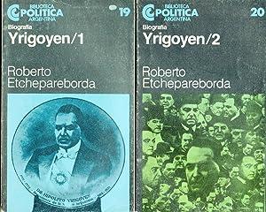 YRIGOYEN Tomos 1 y 2: ROBERTO ETCHEPAREBORDA