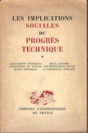 LES IMPLICATIONS SOCIALES DU PROGRES TECHNIQUE: G. BALANDIER, S.